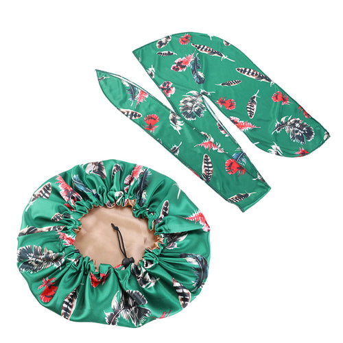 Silky durag and Bonnet 2pcs set - 3kingsmerch