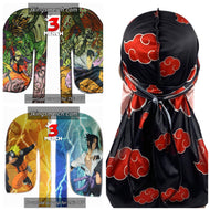 3x Naruto Anime Inspired Silky Durag Bundle - 3kingsmerch