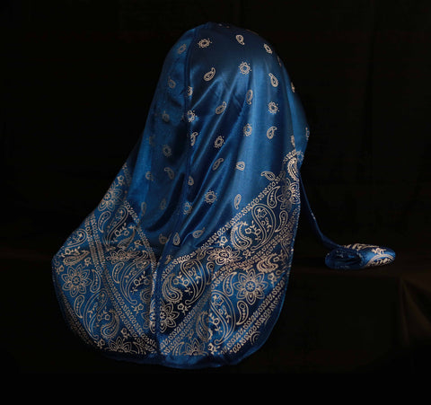 Royal Blue Bandana Designer Durag