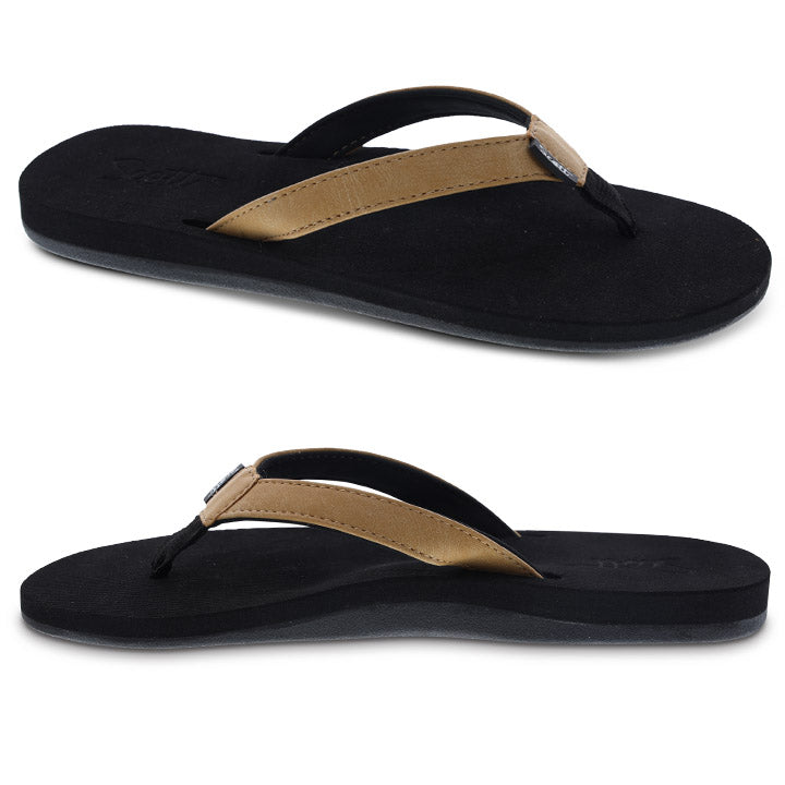 Women's molded sole flip flop with arch support and heel cup