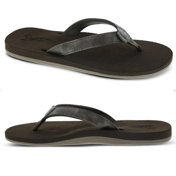 Women's molded sole slipper with arch support and heel cup