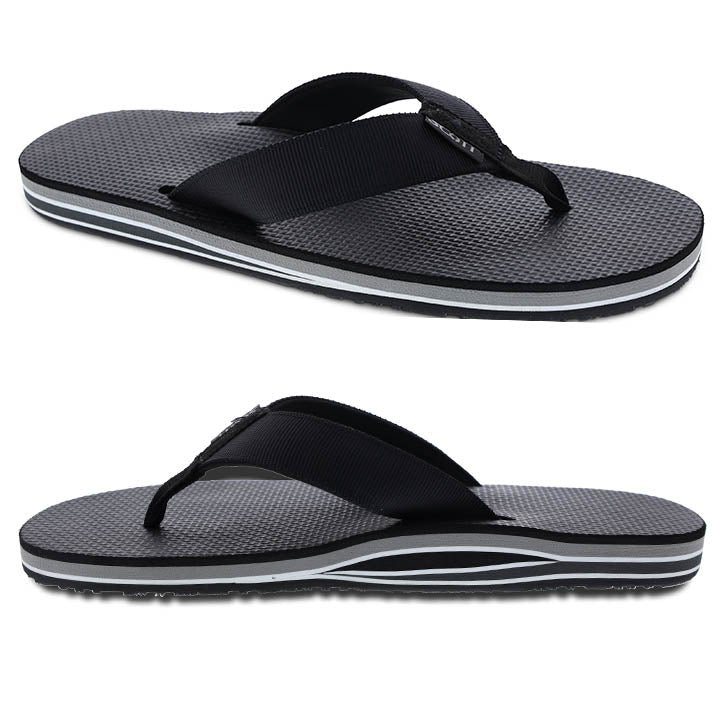 Men's layered slipper with arch support and heel cushion