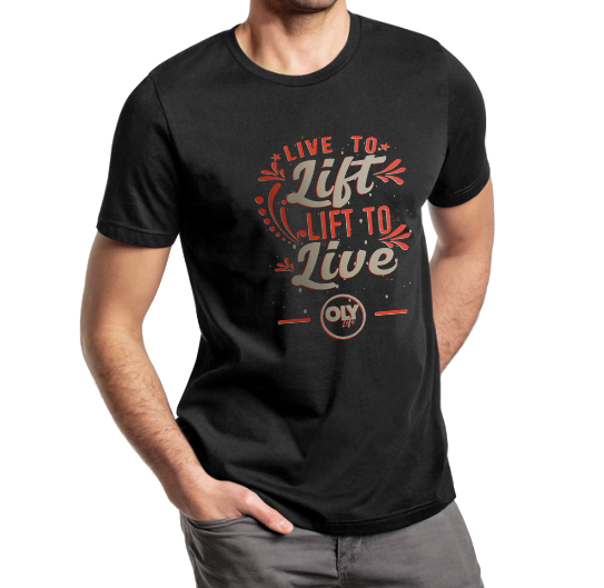 Unisex T-Shirt Live to Lift, Lift to Live