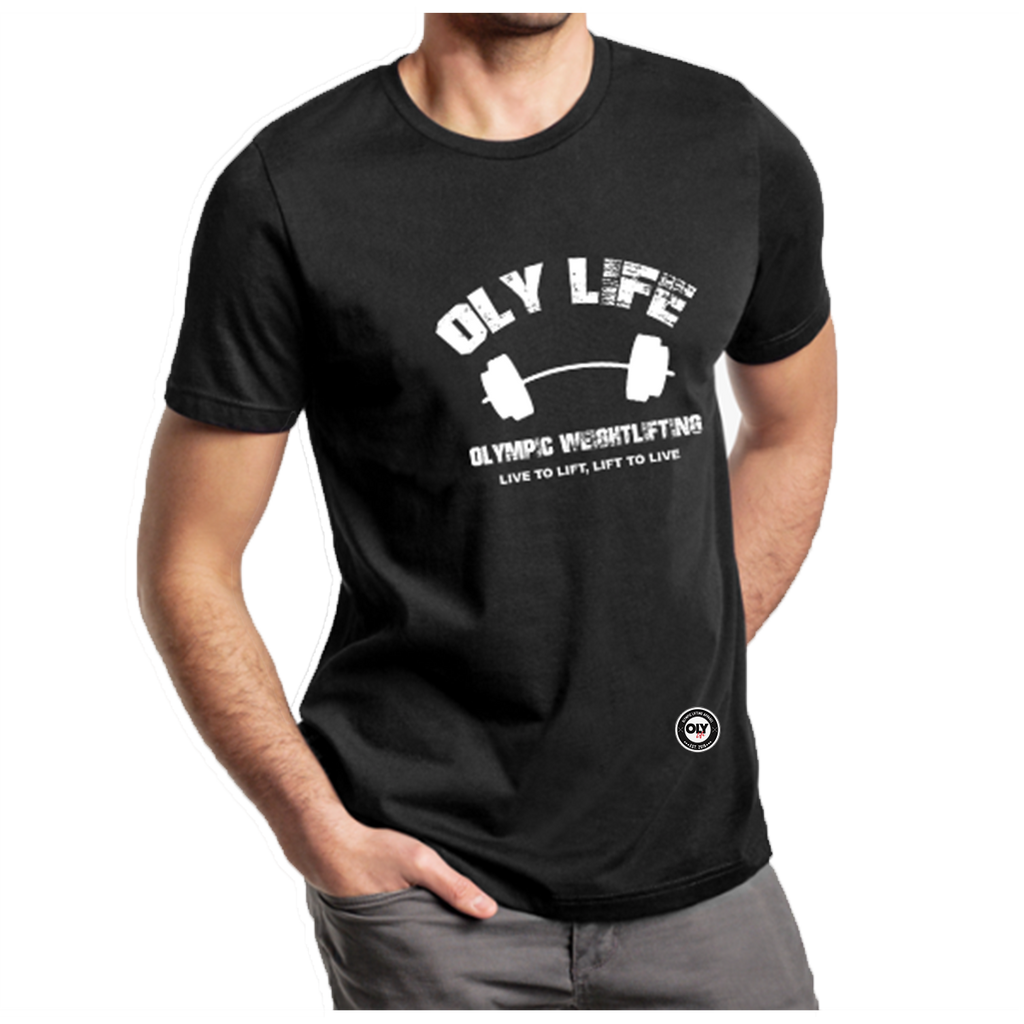 Olympic Lifting T-shirt-- OLY LIFE BARBELL