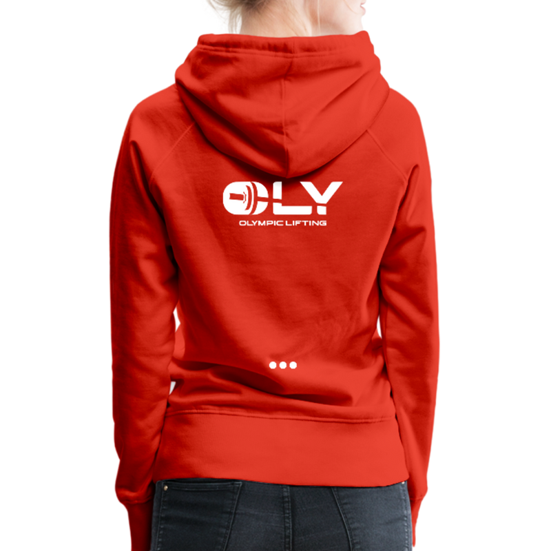 WOMEN'S PREMIUM PULLOVER HOODIE - red