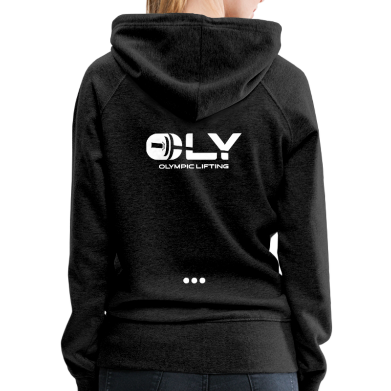 WOMEN'S PREMIUM PULLOVER HOODIE - charcoal gray