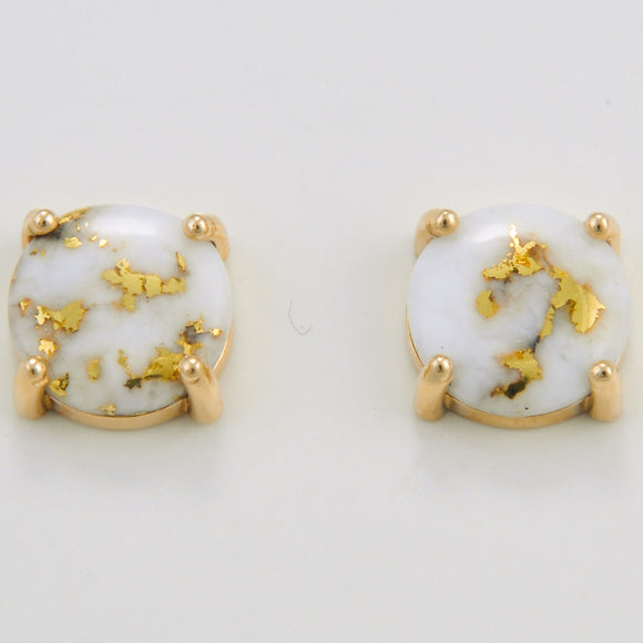 Women's Earrings 10MM GOLD QUARTZ PPE