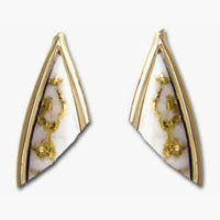 Women's Earrings DL-25 SM GOLD QUARTZ PPE