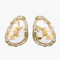 Women's Earrings FFQ-4 GOLD QUARTZ FF PPE