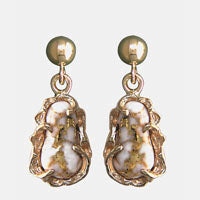 Women's Earrings FFQ-5 GOLD QUARTZ FF PD