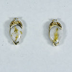 Women's Earrings N-1121 GOLD QUARTZ 2/.015 CT PPE