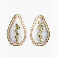 Women's Earrings N-433 GOLD QUARTZ PPE EARRING