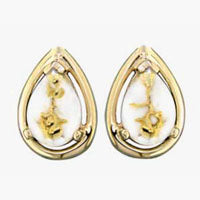 Women's Earrings N-442 GOLD QUARTZ PPE EARRING