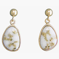 Women's Earrings SC-106 GOLD QUARTZ PPD EARRING