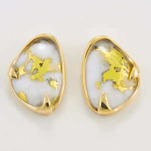 Women's Earrings SC-112 GOLD QUARTZ PPE