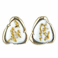 Women's Earrings SC-115 SM GOLD QUARTZ PPE