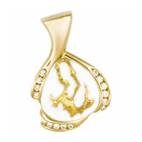 Women's Pendant DL-105 SM GOLD QUARTZ 11/.015CT D