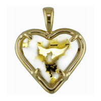 Women's Pendant HQ-1 GOLD QUARTZ HEART ,NO CHAIN