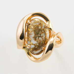 Women's Ring 1028RL GOLD QUARTZ