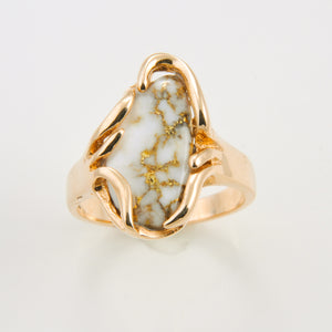 Women's Ring 1031RL GOLD QUARTZ