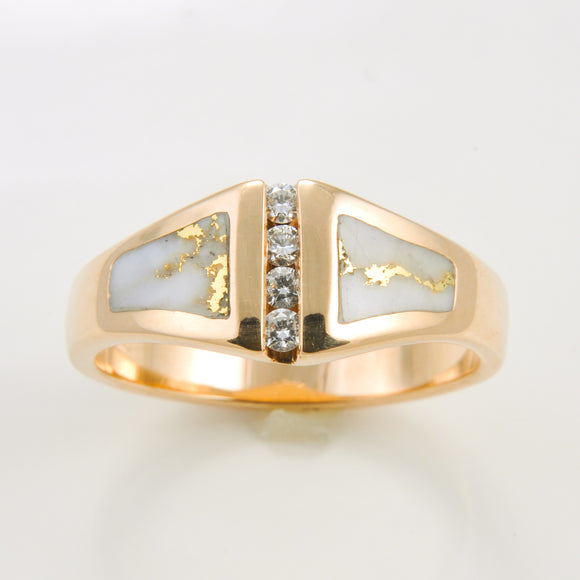 Women's Ring 1051RL GOLD QUARTZ 4/.04CT