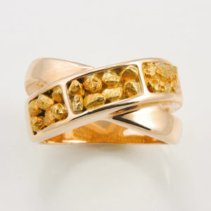 Women's Ring 1063RL GOLD NUGGET OL