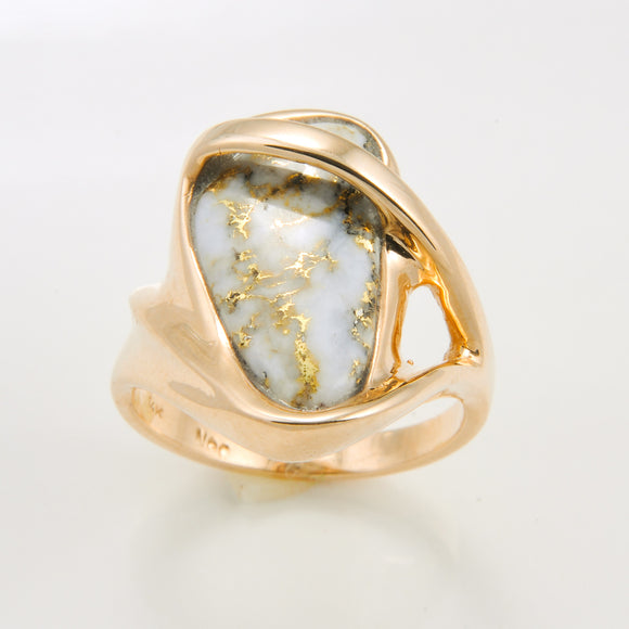 Women's Ring 581RL GOLD QUARTZ