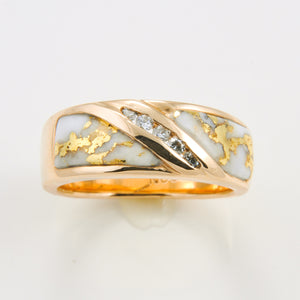 Women's Ring 610RL GOLD QUARTZ 5/.02CT