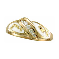 Women's Ring 612RL GOLD QUARTZ .10CT