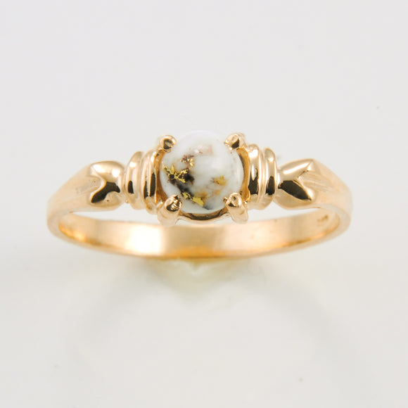 Women's Ring 681RL GOLD QUARTZ 5MM
