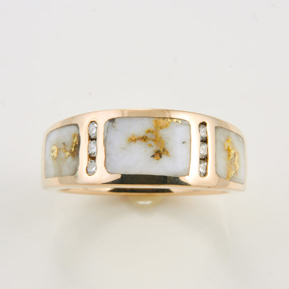Women's Ring 732RL GOLD QUARTZ 6/.02CT DIA