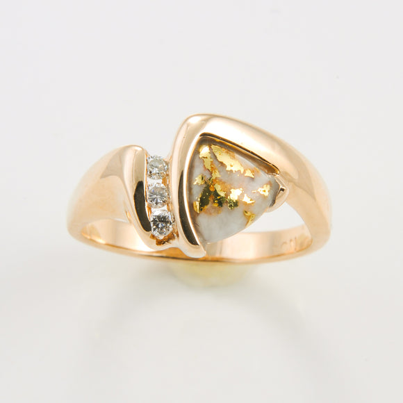 Women's Ring 737RL GOLD QUARTZ .075CT TW DIA