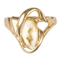 Women's Ring 784RL GOLD QUARTZ