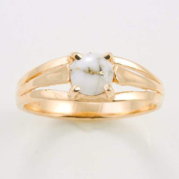 Women's Ring 787RL GOLD QUARTZ 6MM RD