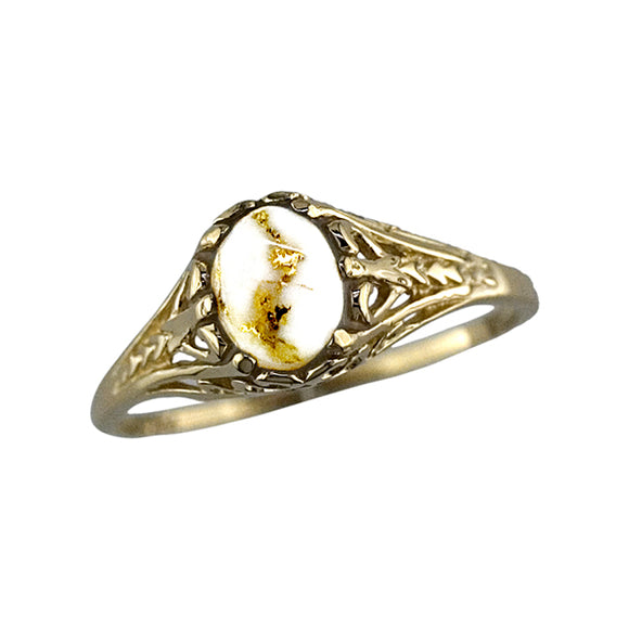 Women's Ring 790RL GOLD QUARTZ 7*5