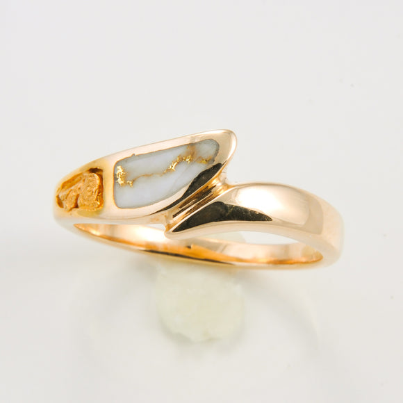 Women's Ring 871RL GOLD QUARTZ/NUGGET OL