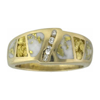 Women's Ring 882RL GOLD QUARTZ/NUG 4/.02CT