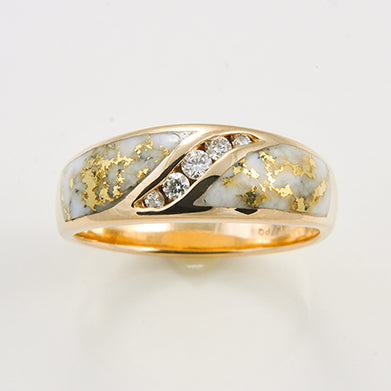 Women's Ring 899RL GOLD QUARTZ 4/.02CT DIA