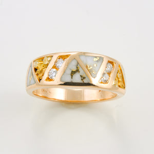Women's Ring 968RL QUARTZ NUG OL 4/.04CT
