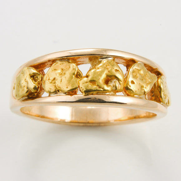 Women's Ring 125RM 8MM 5-NUGGET BAND