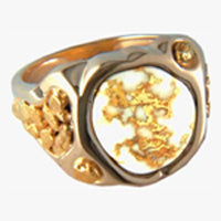 Men's Ring 518RM GOLD QUARTZ & NOL