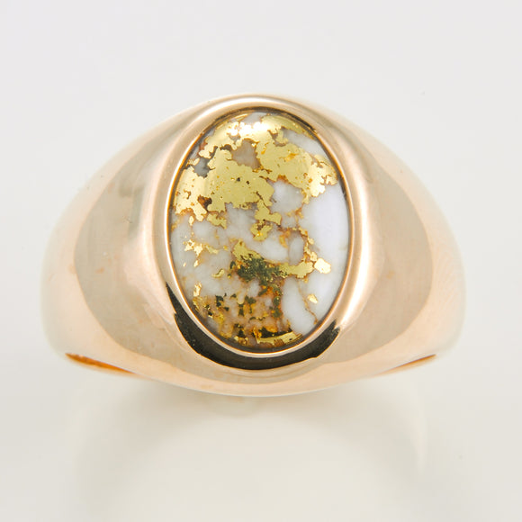 Men's Ring 595RM GOLD QUARTZ X-NUGGET GENTS