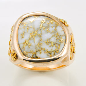 Men's Ring 832RM GOLD QUARTZ/NUGGET FF