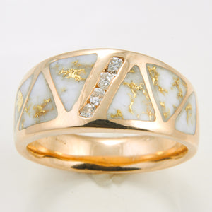 Men's Ring 883RM GOLD QUARTZ 4/.05CT