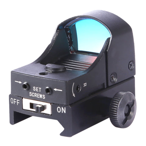 Mini Red Dot Holographic Scope Sight for Outdoor Activity - Black