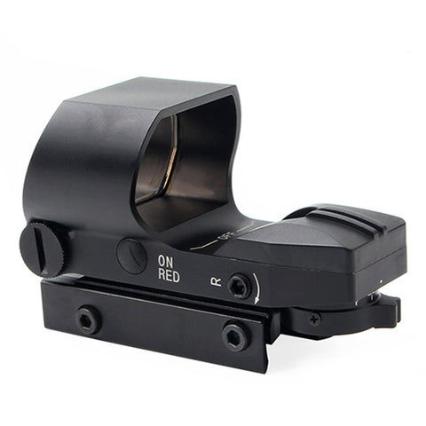 Button Version Holographic Red Green Dot Scope Sight - Black