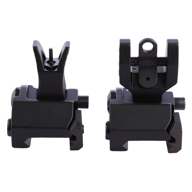 Y Type Foldable Sight Front/ Rear Aiming  - Black