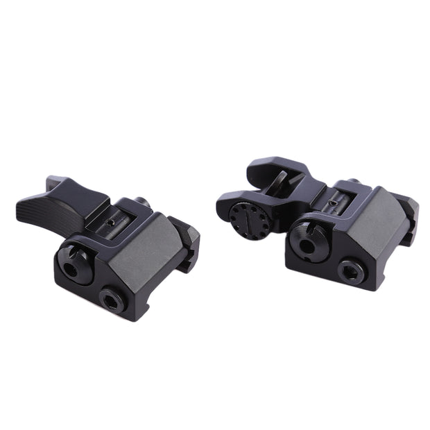 Y Type Foldable Sight Device with Front Rear Aiming  - Black