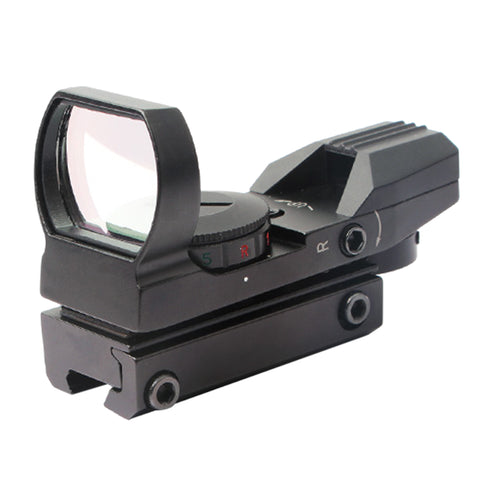 Holographic Red Green Dot Scope Sight with Four Type Aim Point - Black