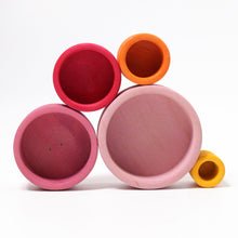 Load image into Gallery viewer, Grimm's Lollipop Bowls Wooden Stacking